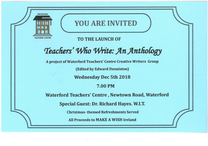 Anthology Invitation